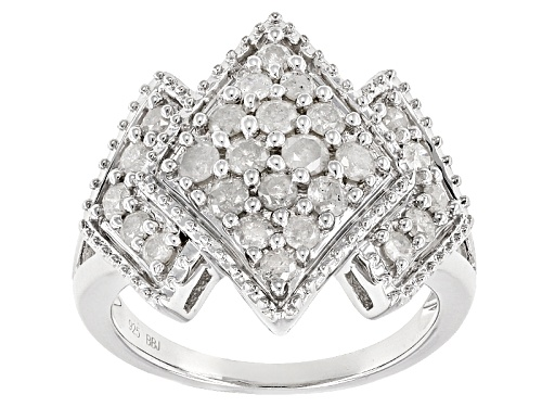 Photo of Pre-Owned 1.00ctw Round White Diamond Rhodium Over Sterling Silver Ring - Size 7