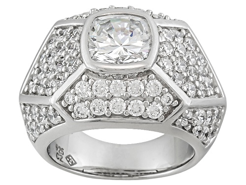 Photo of Pre-Owned Jose Hess ™ For Bella Luce ® 9.74ctw Rhodium Over Sterling Silver Ring - Size 5