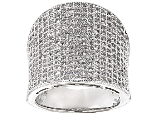 Photo of Pre-Owned Bella Luce ® 2.71ctw Rhodium Over Sterling Silver Ring (1.50ctw Dew) - Size 5
