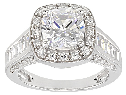Photo of Pre-Owned Bella Luce ® 6.48CTW White Diamond Simulant Rhodium Over Sterling Silver Ring (4.86CTW DEW - Size 11