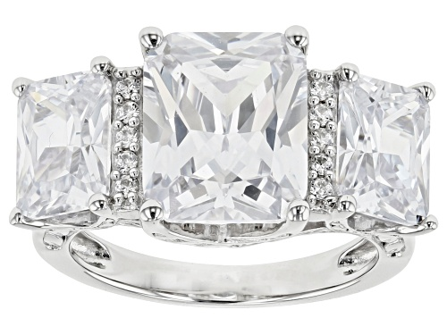 Photo of Pre-Owned Bella Luce ® 14.88CTW White Diamond Simulant Rhodium Over Sterling Silver Ring (8.79CTW DE - Size 8