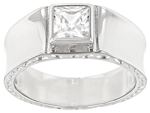 Photo of Pre-Owned Bella Luce ® 1.21ctw Rhodium Over Sterling Silver Ring (0.71ctw DEW) - Size 7