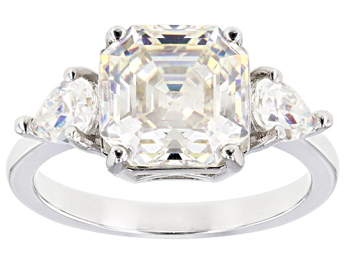 Photo of Pre-Owned 5.75CTW OCTAGONAL ASSCHER CUT AND PEAR SHAPE FABULITE STRONTIUM TITANATE RHODIUM OVER SILV - Size 8