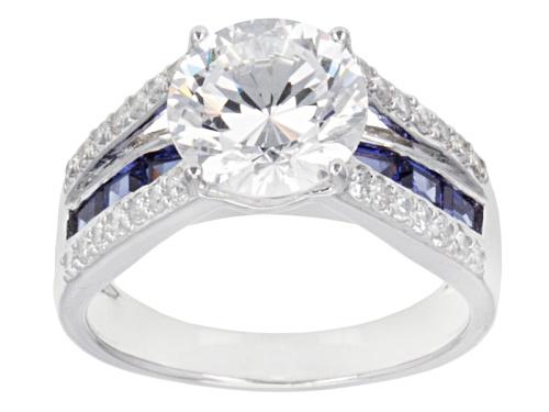 Photo of Pre-Owned Bella Luce ® Dillenium Cut 6.34ctw Diamond Simulant & Tanzanite Simulant Rhodium Over Silv - Size 9