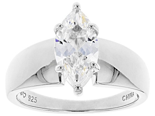Photo of Pre-Owned Bella Luce ® 2.45ctw Rhodium Over Sterling Silver Ring (1.62ctw DEW) - Size 10