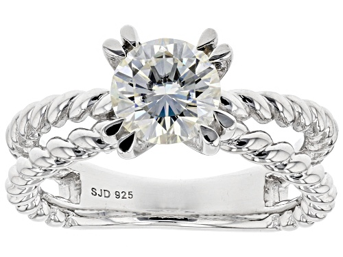 Photo of Pre-Owned MOISSANITE FIRE(R) 1.20CT DEW ROUND BRILLIANT PLATINEVE(R) RING - Size 11