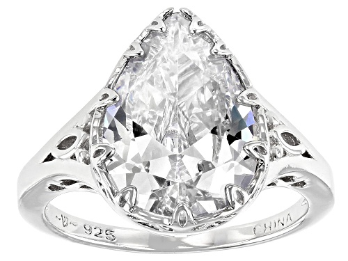 Photo of Pre-Owned Bella Luce ® 8.28ctw Rhodium Over Sterling Silver Ring (5.41ctw DEW) - Size 6