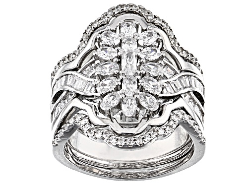 Photo of Pre-Owned Bella Luce ® 2.69ctw Rhodium Over Sterling Silver Stackable Ring (1.08ctw DEW) - Size 6