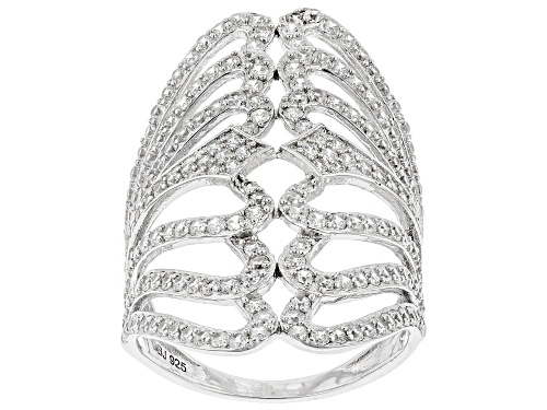 Photo of Pre-Owned Bella Luce ® 3.08ctw Rhodium Over Sterling Silver Ring (1.91ctw DEW) - Size 12