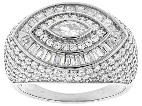 Photo of Pre-Owned Bella Luce ® 3.93ctw Rhodium Over Sterling Silver Ring (2.09ctw DEW) - Size 7