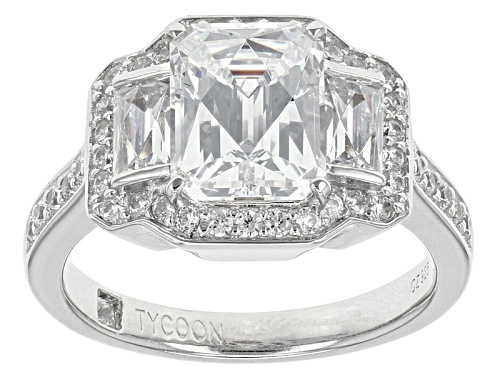 Photo of Pre-Owned Tycoon For Bella Luce ® 6.25ctw Platineve® Ring (3.67ctw Dew) - Size 5