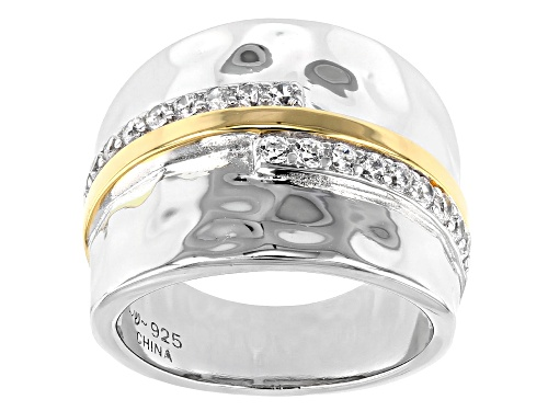 Photo of Pre-Owned Bella Luce ® 0.61ctw Rhodium And 14K Yellow Gold Over Sterling Silver Ring (0.27ctw DEW) - Size 6