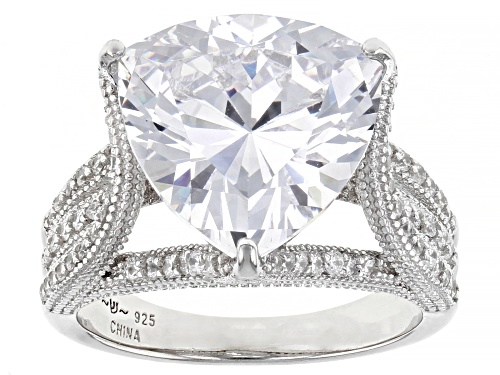 Photo of Pre-Owned Bella Luce ® 9.36ctw Rhodium Over Sterling Silver Ring (6.91ctw DEW) - Size 5