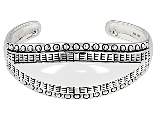 Pre-Owned Southwest Style By JTV™ Rhodium Over Sterling Silver Bracelet - Size 7.5