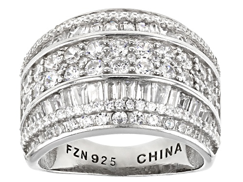 Photo of Pre-Owned Bella Luce ® 4.83ctw Rhodium Over Sterling Silver Ring - Size 5