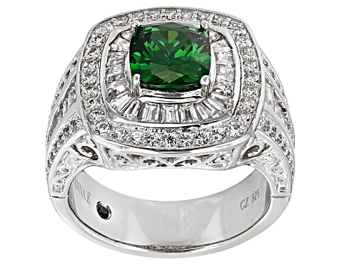 Photo of Pre-Owned Vanna K ™ For Bella Luce ® 4.87ctw Tsavorite Simulant & Diamond Simulant Platineve® Ring - Size 5
