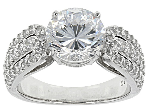 Photo of Pre-Owned Bella Luce® Dillenium Cut 6.03ctw Diamond Simulant Rhodium Over Sterling Silver Ring (3.56 - Size 5