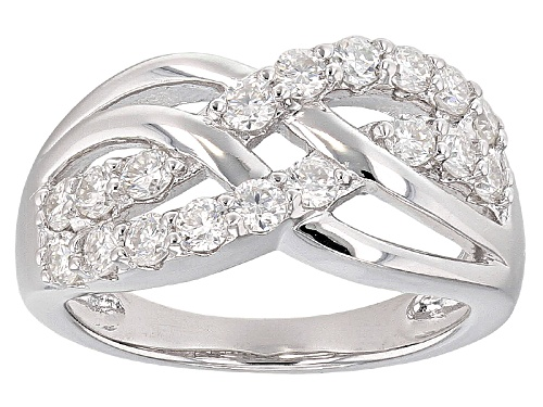 Pre-Owned Moissanite Fire® .90ctw Diamond Equivalent Weight Round Platineve™ Ring - Size 6