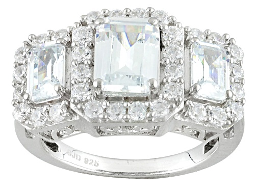Photo of Pre-Owned Charles Winston For Bella Luce ® 6.26ctw Diamond Simulant Rhodium Over Sterling Silver R - Size 12