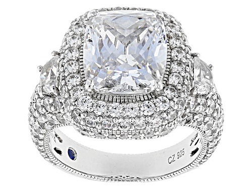 Photo of Pre-Owned Vanna K For Bella Luce ® 14.37ctw Platineve ™ Custom Design Ring - Size 9