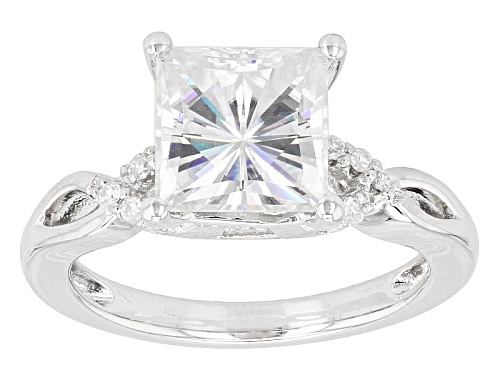 Photo of Pre-Owned Moissanite Fire® 3.20ctw Diamond Equivalent Weight Square Brilliant And Round Platineve( - Size 7