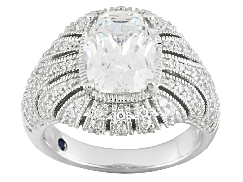 Photo of Pre-Owned Vanna K ™ For Bella Luce ® 7.66ctw Cushion And Round Platineve ™ Ring - Size 10