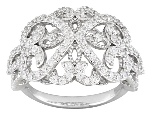 Photo of Pre-Owned Johanna Bagley For Bella Luce ® 1.70ctw Round Rhodium Over Sterling Silver Ring - Size 5