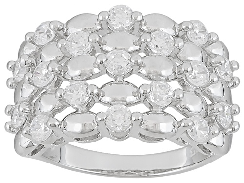 Photo of Pre-Owned Bella Luce (R) 2.07ctw Round Rhodium Over Sterling Silver Ring - Size 5