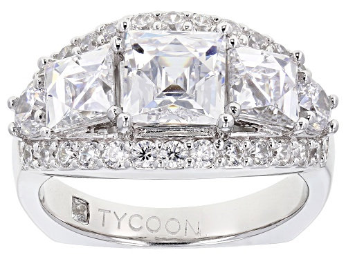 Photo of Pre-Owned Tycoon For Bella Luce ® 6.47ctw Platineve ™ Ring (3.87ctw Dew) - Size 5