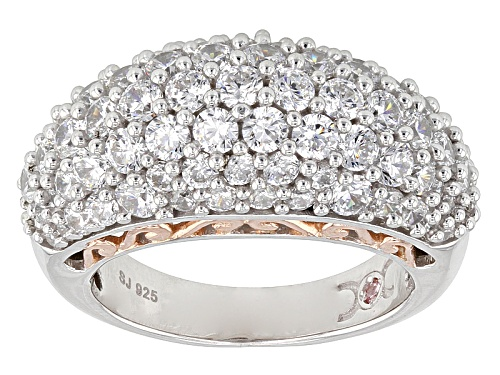 Photo of Pre-Owned Michael O' Connor For Bella Luce®6.60ctw Diamond Simulant Rhodium Over Sterling & Eterno - Size 5
