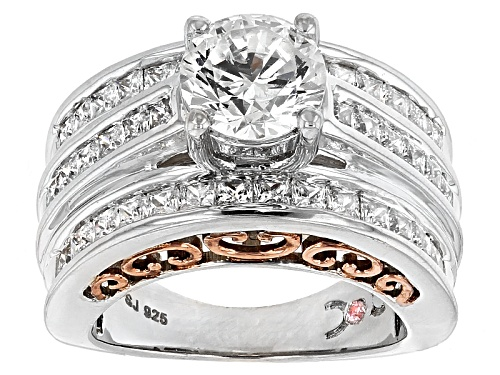 Photo of Pre-Owned Michael O' Connor For Bella Luce ®Diamond Simulant Rhodium Over Sterling Silver & Eterno - Size 11