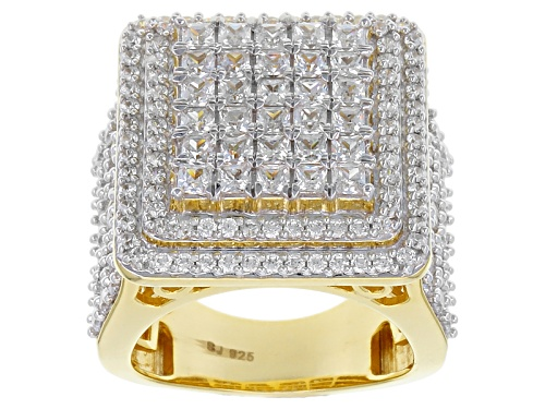 Photo of Pre-Owned Bella Luce ® 6.00ctw Princess Cut And Round Eterno™ Yellow Ring - Size 5