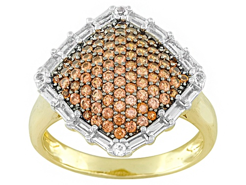 Photo of Pre-Owned  .76ctw Vermelho Garnet™ And .65ctw White Topaz 18k Gold Over Silver Ring - Size 6