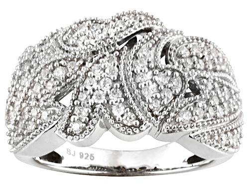 Photo of Pre-Owned Bella Luce ® 1.18ctw Diamond Simulant Round Rhodium Over Silver Ring (.81ctw Dew) - Size 5