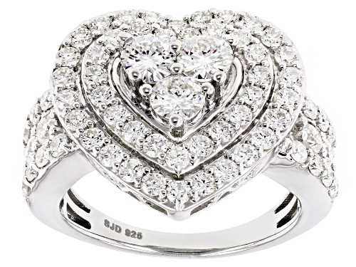 Photo of Pre-Owned Moissanite Fire® 2.70ctw Diamond Equivalent Weight Round Platineve™ Ring - Size 10