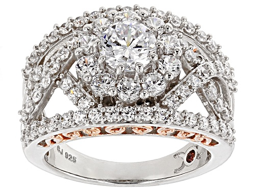 Photo of Pre-Owned Michael O' Connor For Bella Luce ®Diamond Simulant Rhodium Over Sterling Silver & Eterno™ - Size 10