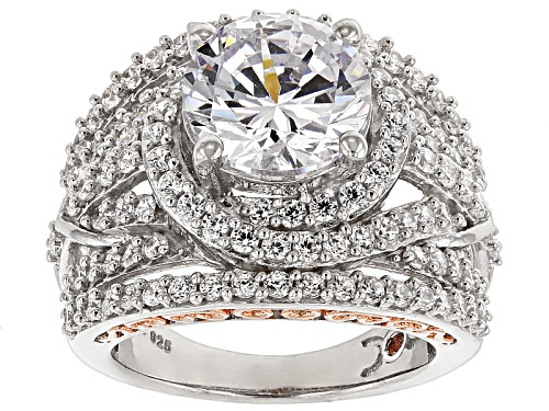 Pre-Owned Michael O' Connor For Bella Luce ® Diamond Simulant Rhodium Over Sterling Silver & Eterno™ - Size 12