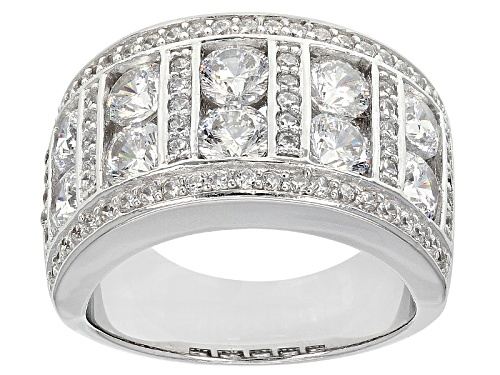 Photo of Pre-Owned Bella Luce ® Dillenium 5.61ctw Rhodium Over Sterling Silver Ring (3.24ctw Dew) - Size 5