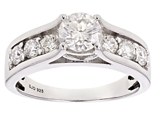 Photo of Pre-Owned Moissanite Fire® 1.78ctw Diamond Equivalent Weight Round Platineve™ Ring - Size 5