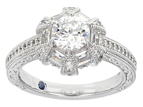 Photo of Pre-Owned Vanna K ™ For Bella Luce ® 2.72ctw White Diamond Simulant Platineve ™ Ring (1.95ctw Dew) - Size 11