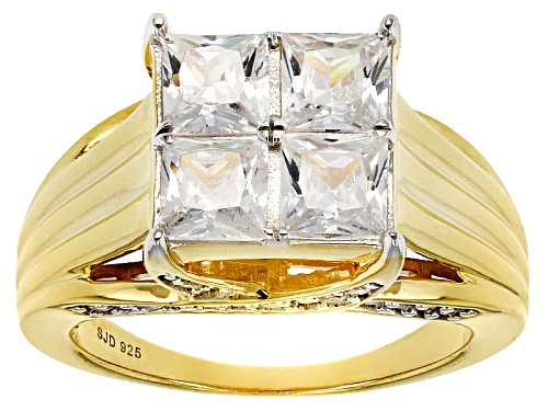 Photo of Pre-Owned Bella Luce ® 3.96ctw White Diamond Simulant Eterno ™ Yellow Ring (2.54ctw Dew) - Size 12