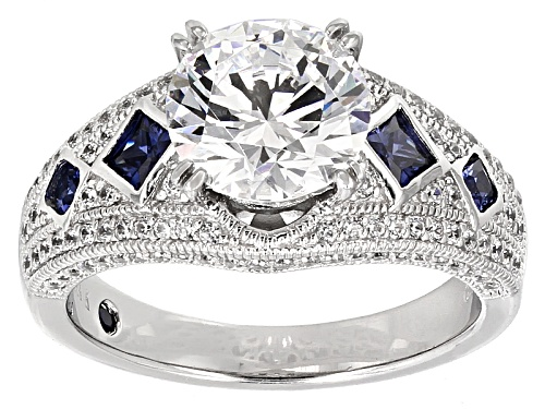 Photo of Pre-Owned Vanna K ™ For Bella Luce ® 5.69ctw White & Tanzanite Color Diamond Simulant Platineve ™ Ri - Size 10