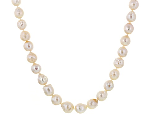 "Photo of Genusis Pearls™ 10-13.5mm White Cultured Freshwater Pearl Silver 18"" Adjustable Necklace - Size 18"