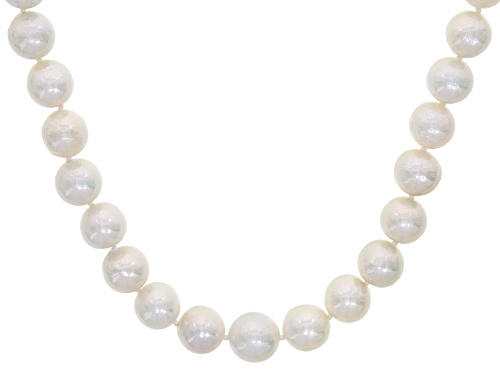 Photo of Genusis™ 8.5-11.5mm White Cultured Freshwater Pearl 14k Yellow Gold Strand Necklace - Size 20