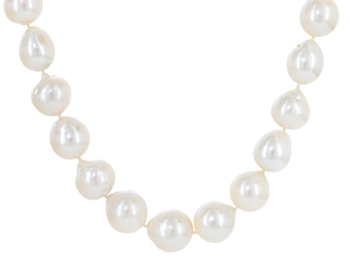 "Photo of Genusis Pearls™11-14mm Cultured Freshwater Pearl & Bella Luce® Rhodium Over Silver 20"" Necklace - Size 20"