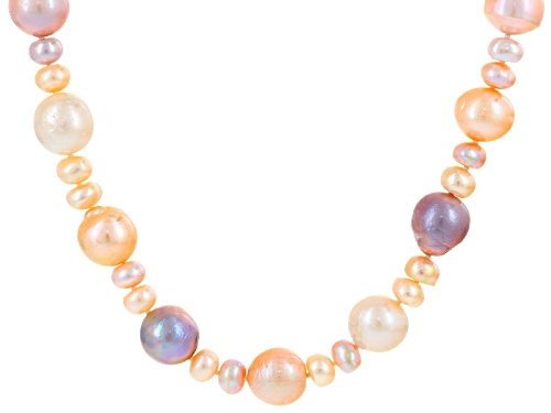 Photo of 6-13mm Multicolor Cultured Freshwater Pearl 32 Inch Strand Necklace - Size 32