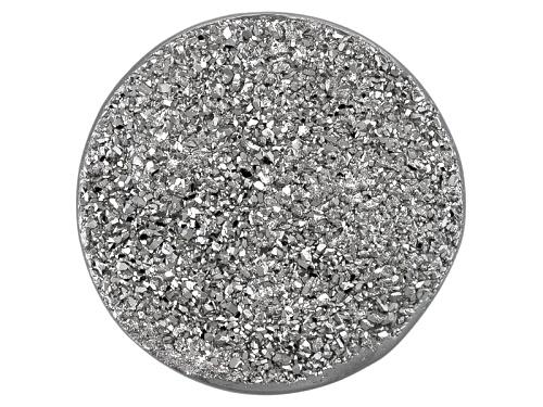 Photo of Indian Silver Mist™ Drusy Quartz 12mm Round tablet