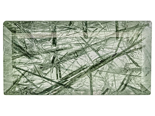 Photo of Brazilian Actinolite In Quartz Avg 6.00ct 16x8mm Rectangle Step Cut
