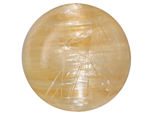 Photo of Brazilian Cats Eye Rutilated Quartz Min 1.25ct 6.5mm Round Cabochon