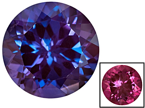 Photo of Lab Created Color Change Alexandrite Min 4.25ct 10mm Round